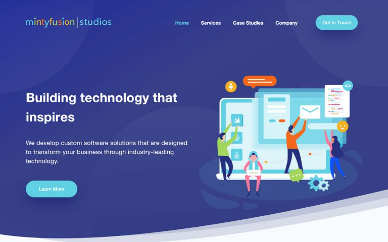 MintyFusion Studios Case Study Homepage Sample 2