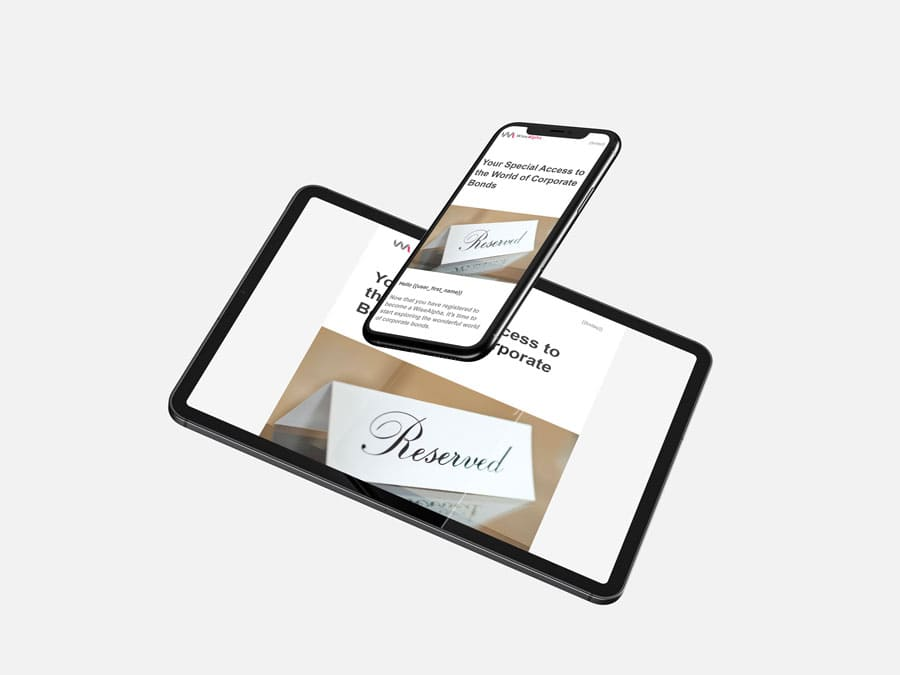 WiseAlpha email templates tablet and mobile